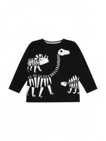 Younger Boys Black Skelesaurus T-Shirt