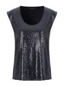 Womens Silver Sparkle Top