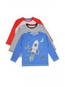 Younger Boys 3pk Space T-Shirts