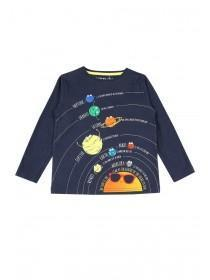 Younger Boys Navy Plant T-Shirt