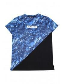 Older Boys Blue Galaxy T-Shirt