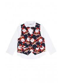 Younger Boys Santa Waistcoat and Shirt Set