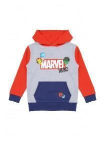 Younger Boys Grey Marvel Hoody