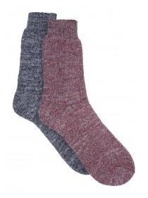 Mens 2pk Wine Thick Socks
