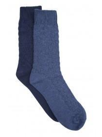 Mens 2pk Navy Socks