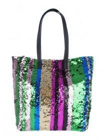 Womens Multicolour Sequin Shopper Bag