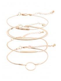 Womens 4pk Gold Minimalist Bracelets
