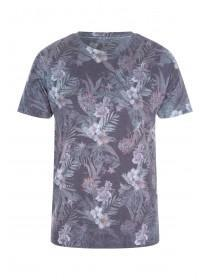 Mens Grey Floral T-Shirt