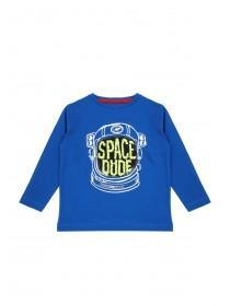 Younger Boys Blue Flip Sequin Space T-Shirt