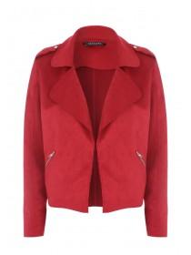 Womens Berry Suedette Jacket