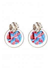 Womens Multicolour Hammered Metal Earrings