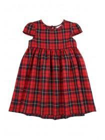 Younger Girls Red Tartan Dress