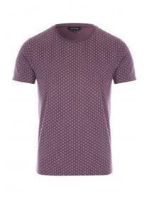 Mens Burgundy All Over Print T-Shirt