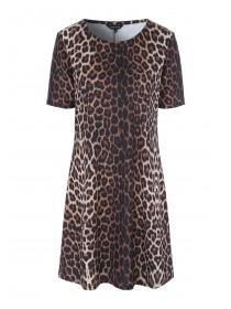 Womens Leopard Print Shift Dress