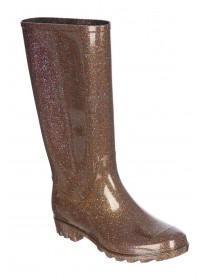Womens Bronze Glitter Welly Boots