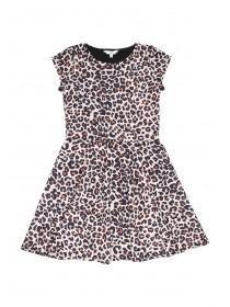 Older Girls Leopard Print Skater Dress