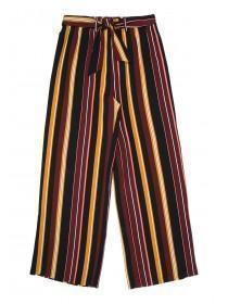 Older Girls Mustard Stripe Wide Leg Trousers