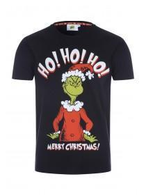 Mens Black Grinch Christmas T-Shirt