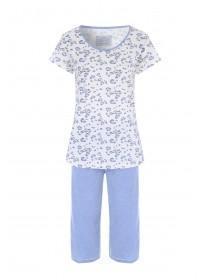 45bfddfa0d Womens Blue Leopard Print Pyjama Set ...