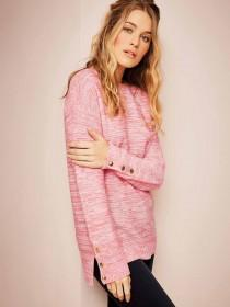 a011631446 Womens Coral Button Sleeve Jumper ...