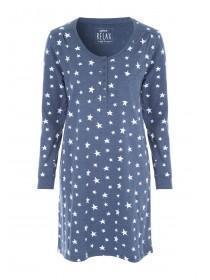 753042140688 Womens Denim Star Long Sleeve Nightdress ...