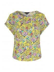 f7551ad00b6 Womens Yellow Bird Print Top ...
