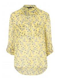 43875bda94 Womens Yellow Floral Shirt ...