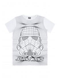 Older Boys White Star Wars Stormtrooper T-Shirt
