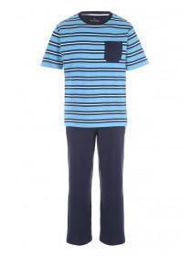 52c127a396 Mens Blue Stripe Pyjama Set ...
