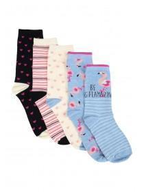894ad2210 Womens 5pk Blue Flamingo Socks ...