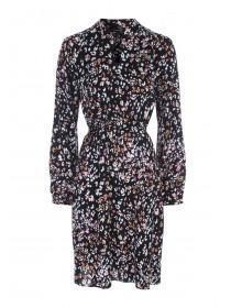 Womens Black Leopard Print Dress