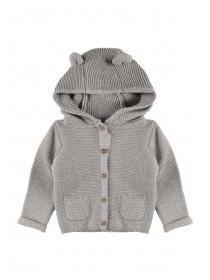 90075c98c504b Unisex Baby Grey Animal Ears Hooded Cardigan ...