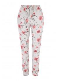 8aca3c5de5 Womens Grey Floral Pyjama Bottoms ...