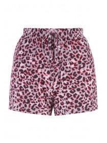 cc270943363c9 Womens Purple Leopard Print Pyjama Shorts ...