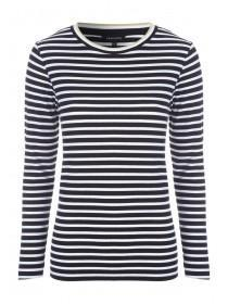 Womens Monochrome Stripe Rib Top