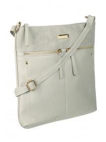 7099bb0bb9 Womens Grey Zip Across Body Bag ...