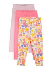 9f29d24f2df764 Younger Girls 3pk Multicolour Leggings ...