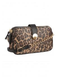 c7c6fc1da61 Womens Brown Leopard Print Across Body Bag ...