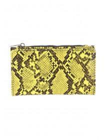 eddc5bbbb9 Womens Neon Yellow Faux Snake Purse ...