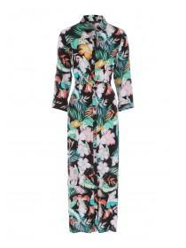 db15570920 Womens Multicolour Tropical Maxi Shirt Dress ...