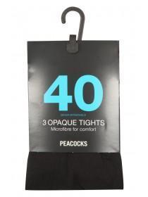 Womens 40 Denier Tights 3 Pack