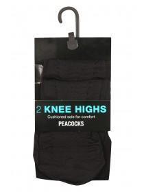 Womens 2Pk Sheer Knee High Tights