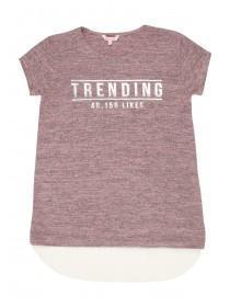 Older Girls Pink Trending Layer Top
