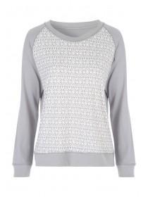 Womens Grey Soft Touch Lounge Top