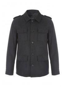 Mens Four Pocket Military Coat