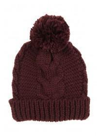 Womens Basic Cable Beanie Hat