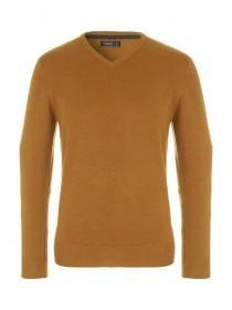 Mens Gold Soft Knit Jumper