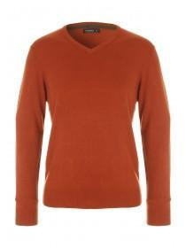 Mens Rust Soft Knit Jumper
