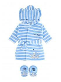 Baby Boys Robe and Bootee