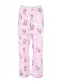 Womens Pale Pink Novelty Pyjama Botttoms